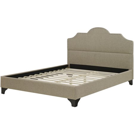 paris linen tufted full platform bed frame. Black Bedroom Furniture Sets. Home Design Ideas