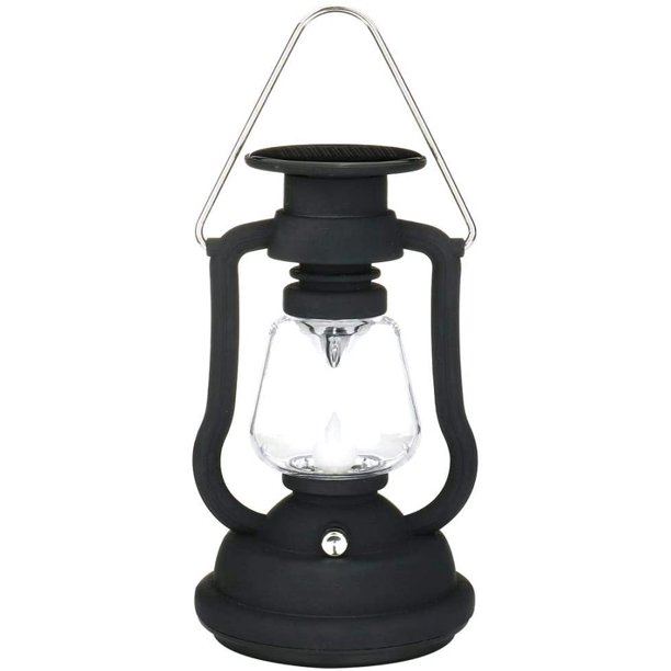 Antique Solar Lantern Lights Outdoor, Decorative Hurricane Lamps Black