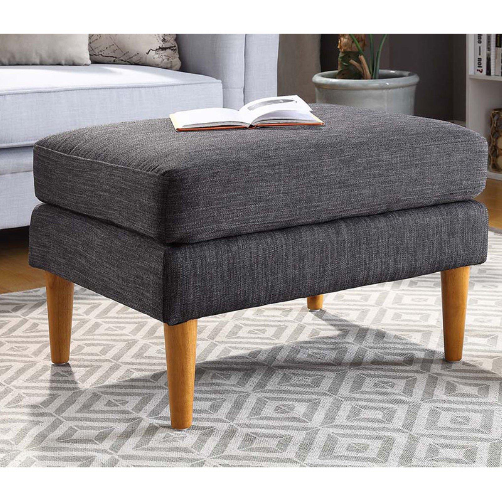 Convenience Concepts Designs4Comfort No Tools Marlow Mid Century Ottoman