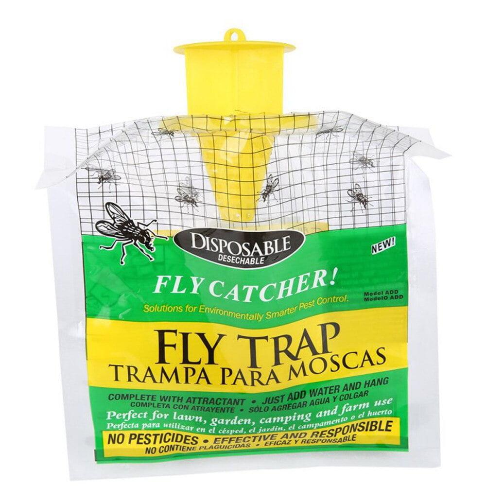 Outdoor Portable Hang Fly Trap Non Toxic Insect Killer Pest Control Catcher Bag