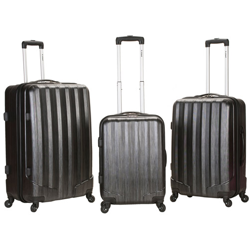 Rockland Luggage 3-Piece Metallic ABS Spinning Luggage Set