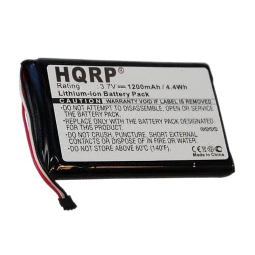 HQRP 1200mAh Battery for GARMIN Approach G6 KF40BF45D0D9X GPS Navigator + HQRP Coaster