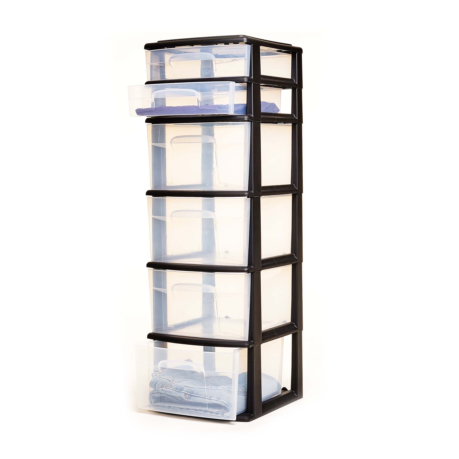 6 Drawers Plastic Storage Tower Organizer Container Drawer Box