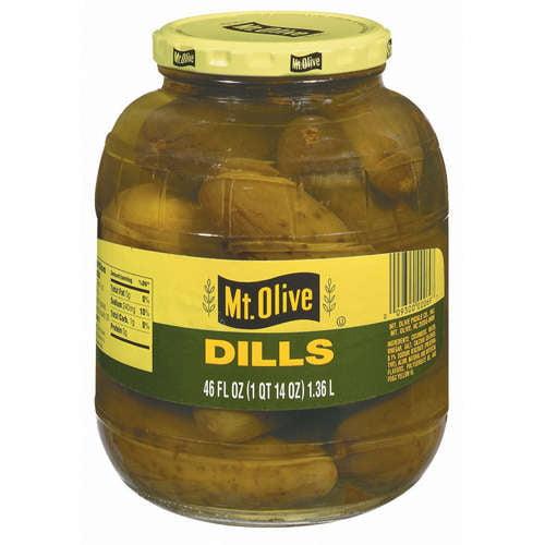 Mt. Olive Dills Pickles, 46 oz