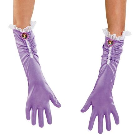 Disney Sofia the First Gloves Child Halloween Accessory (Disney Halloween Nails)