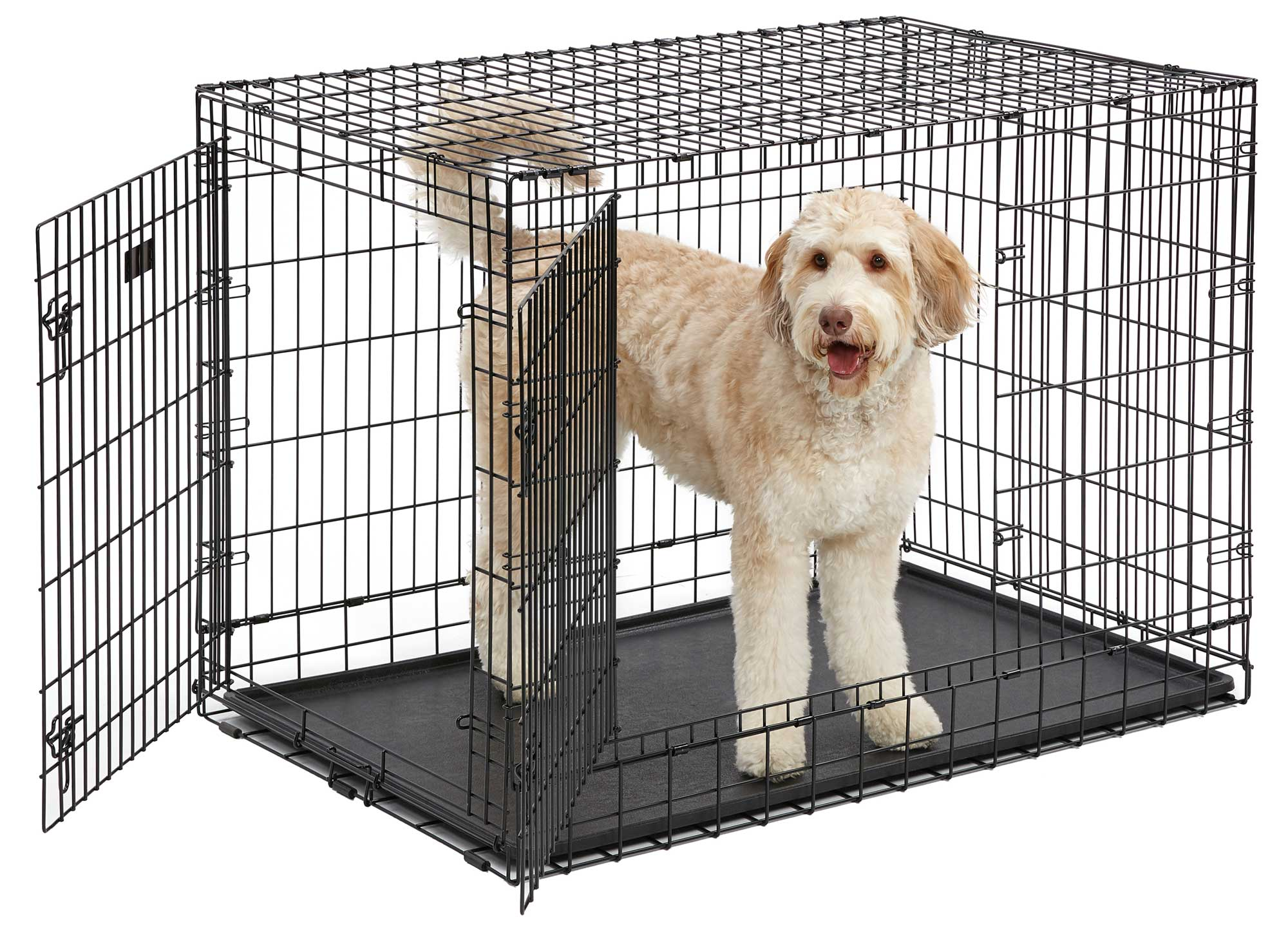 Midwest's Ultima Pro Extra-Strong Double Door Folding Metal Dog Crate by Midwest Metal Products