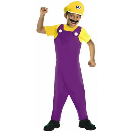 Super Mario Bros Wario Costume Child - Super Mario Costume Child