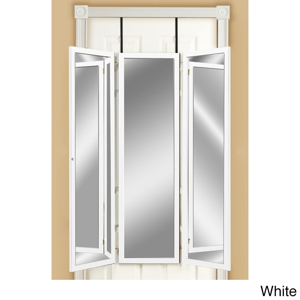 Mirrotek Three Panel Over-the-Door Dressing Mirror