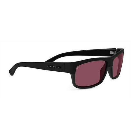 Serengeti Sunglasses Martino 8264 Satin Shiny Black Polarized Sedona (Serengeti Satin Sunglasses)