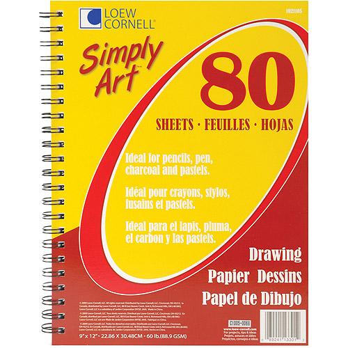 Simply Art Drawing Paper Pad, 80 Sheets