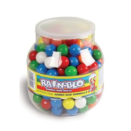 Rain-Blo Jumbo Bubble Gum Balls, 48 Ounce Jar - Types Of Bubble Gum