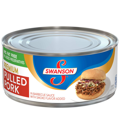(2 Pack) Swanson Premium Pulled Pork in Barbecue Sauce with Smoke Flavor Added, 9.7 oz.