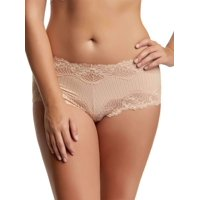 Felina NEW Beige Ivory Women's Size Large L Lace Striped Hipster Panties