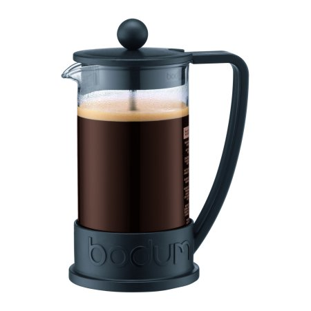 Brazil French Press Coffee Maker , 12 Oz., Black Bodum Stainless Steel Coffee Press