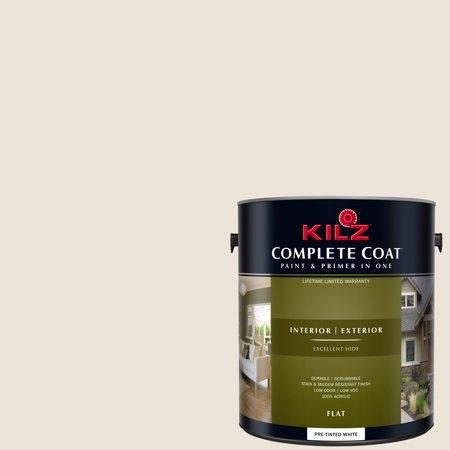 - KILZ COMPLETE COAT Interior/Exterior Paint & Primer in One #LJ210 Cashmere White