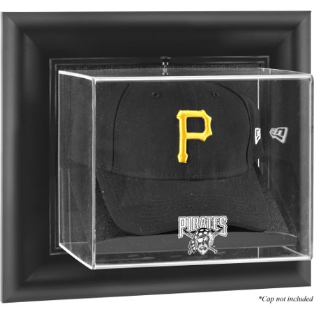 Pittsburgh Pirates Fanatics Authentic Black Framed Wall-Mounted Logo Cap Display Case - No Size Pittsburgh Pirates Display Cases