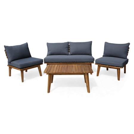 Christopher Knight Home Balmoral Outdoor 4 Seater Acacia Wood Chat Set