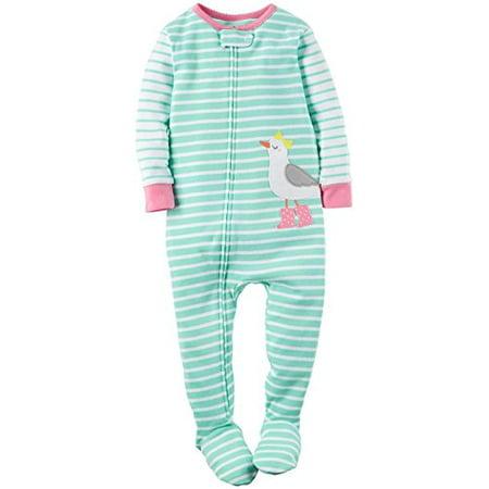 Cotton Footsie (Little Girls' 1 Piece Snug Fit Cotton Footie - 4-Toddler )