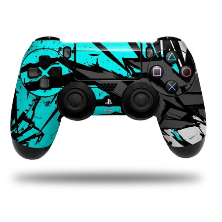 Baja 0040 Neon Teal - Decal Style Wrap Skin fits Sony PS4 Dualshock Controller (CONTROLLER NOT INCLUDED) by WraptorSkinz](Neon Headphones)