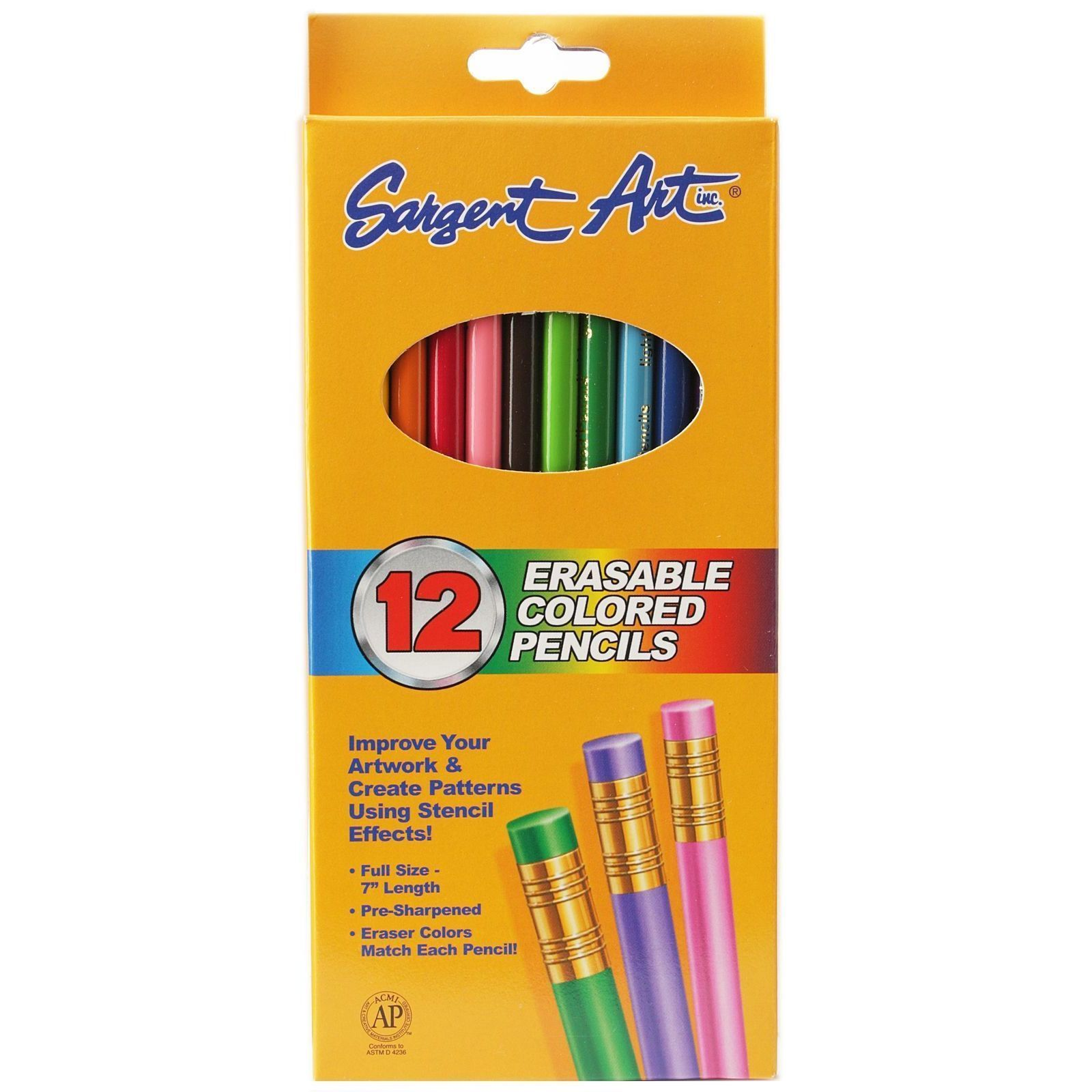 Erasable Colored Pencils pack of 12 (pack of 12)