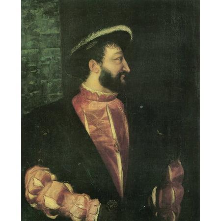 Framed Art for Your Wall Tizian - Portrait of Francis I, King of France 10 x 13 Frame ()