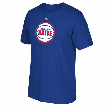 Grand Rapids Drive NBADL Adidas Blue Team Primary Logo Graphic T-Shirt For Men