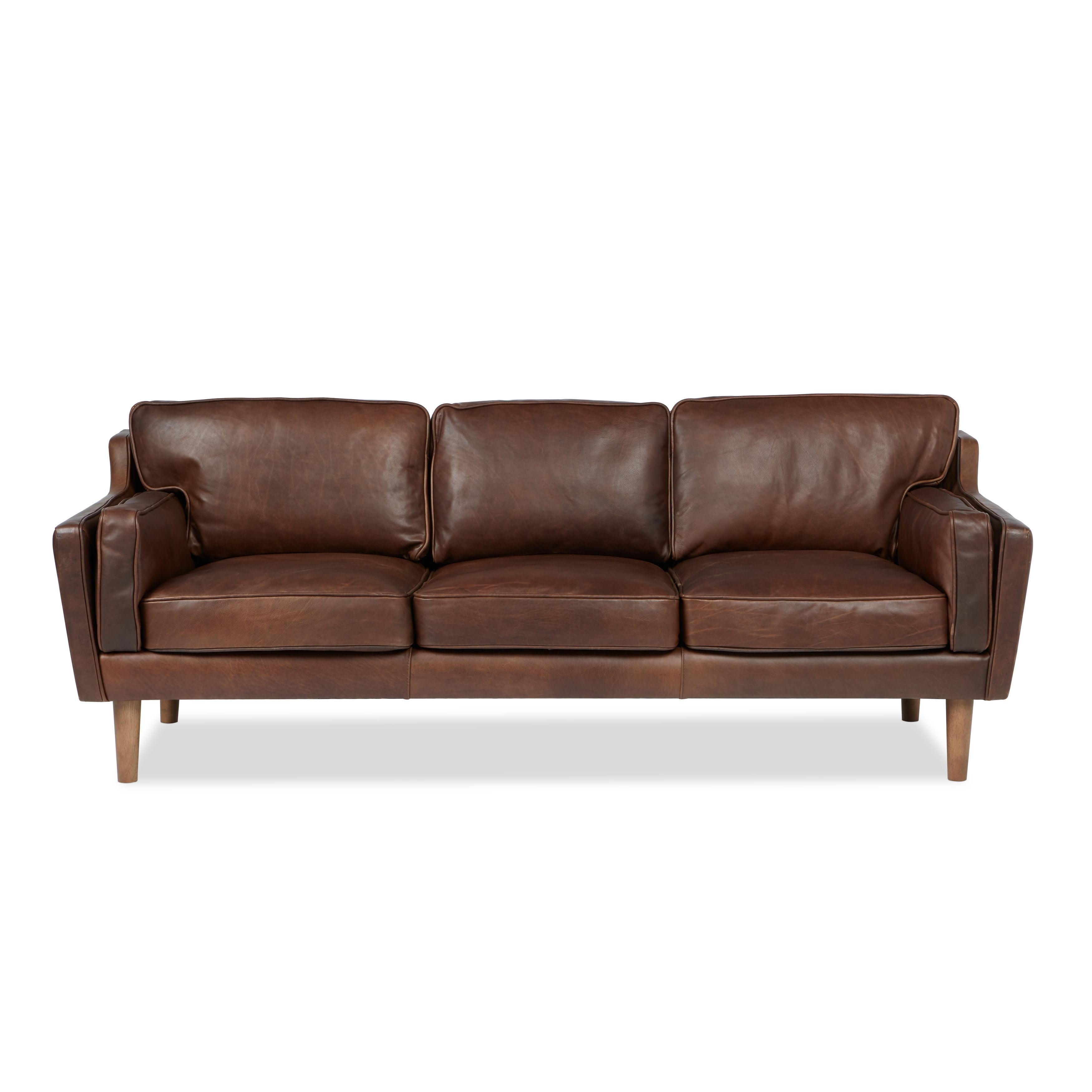 Jasper Laine Studio Beatnik Leather Sofa Columbus Chocolate