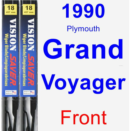 1990 Plymouth Grand Voyager Wiper Blade Set/Kit (Front) (2 Blades) - Vision Saver