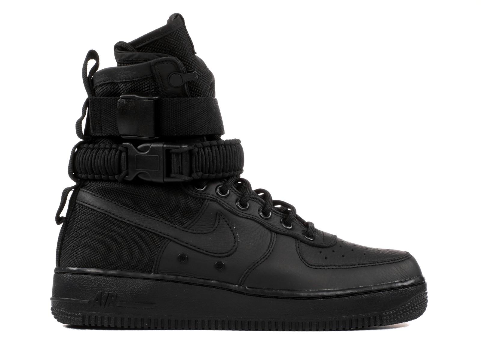 Womens Nike Special Field Air Force 1 Triple Black 857872-002