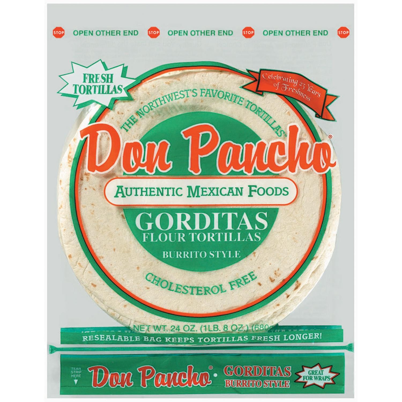 Don Pancho Gorditas Burrito Style Flour Tortillas 24 Oz Bag