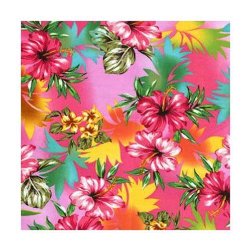 Pink Tropical Flower Print