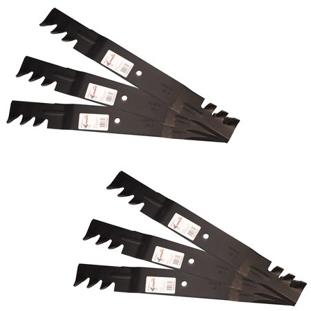 Six (6) Pack Rotary Copperhead Mower Blades To Replace Grasshopper And Woods 320243 Requires (3) Blades For 61
