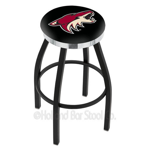 Holland Bar Stool NHL 25'' Swivel Bar Stool with Cushion