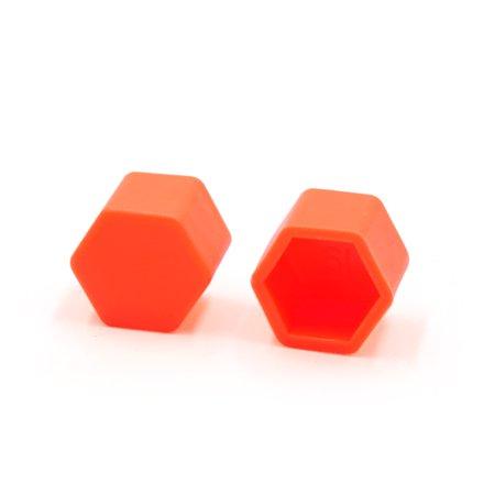 20Pcs 17mm Orange Luminous Car Wheel Lug Nut Bolt Hub Screw Cover Protective Cap - image 1 of 2