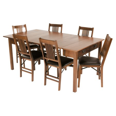 Cool Stakmore Mission Style Expanding Dining Set Fruitwood Download Free Architecture Designs Grimeyleaguecom