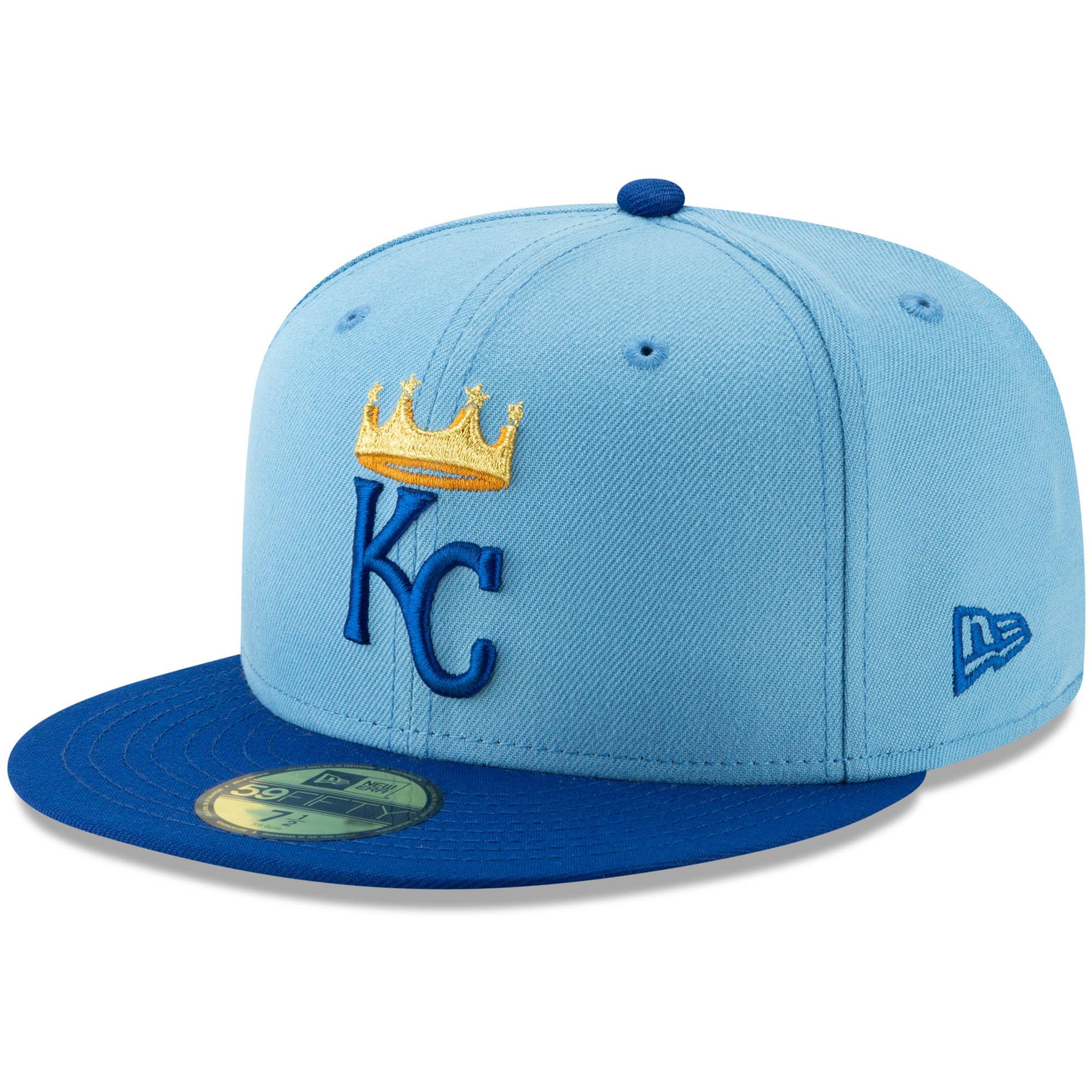 Kansas City Royals New Era Alternate Logo 59FIFTY Fitted Hat - Light Blue