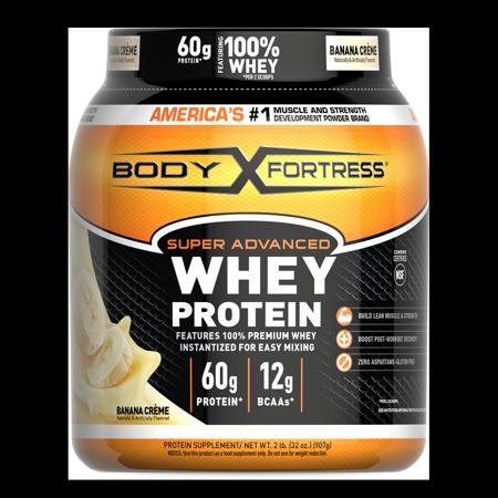 Body Fortress® Super Advanced Whey Protein Powder, Banana Crème, 2 Pounds