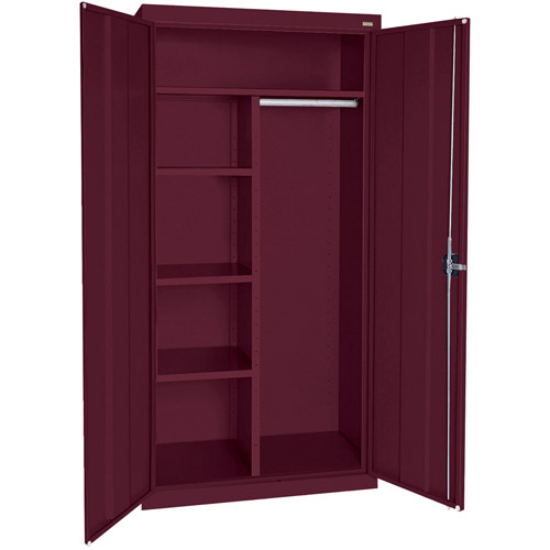 "Elite Series Combination Cabinet with Adjustable Shelves, 36""W x 18""D x 78""H, Burgundy"
