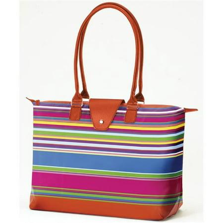 Joann Marrie Designs Nf3ors2 Long Handle Fold Up Bag   Orange Stripe  44  Pack Of 2