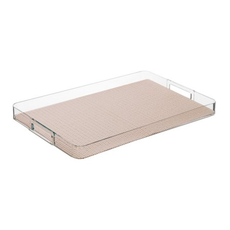 Kraftware Fishnet Tray - White Plastic Serving Trays