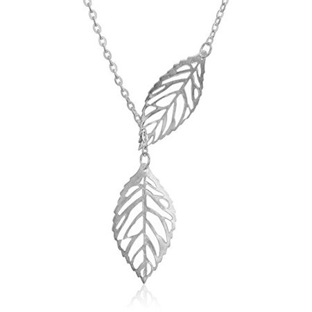 Silver Tone 18 Leaf Womens Fashion -