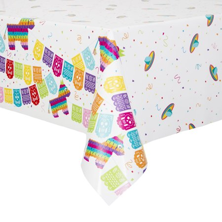Mexican Fiesta Plastic Party Tablecloth, 84 x -