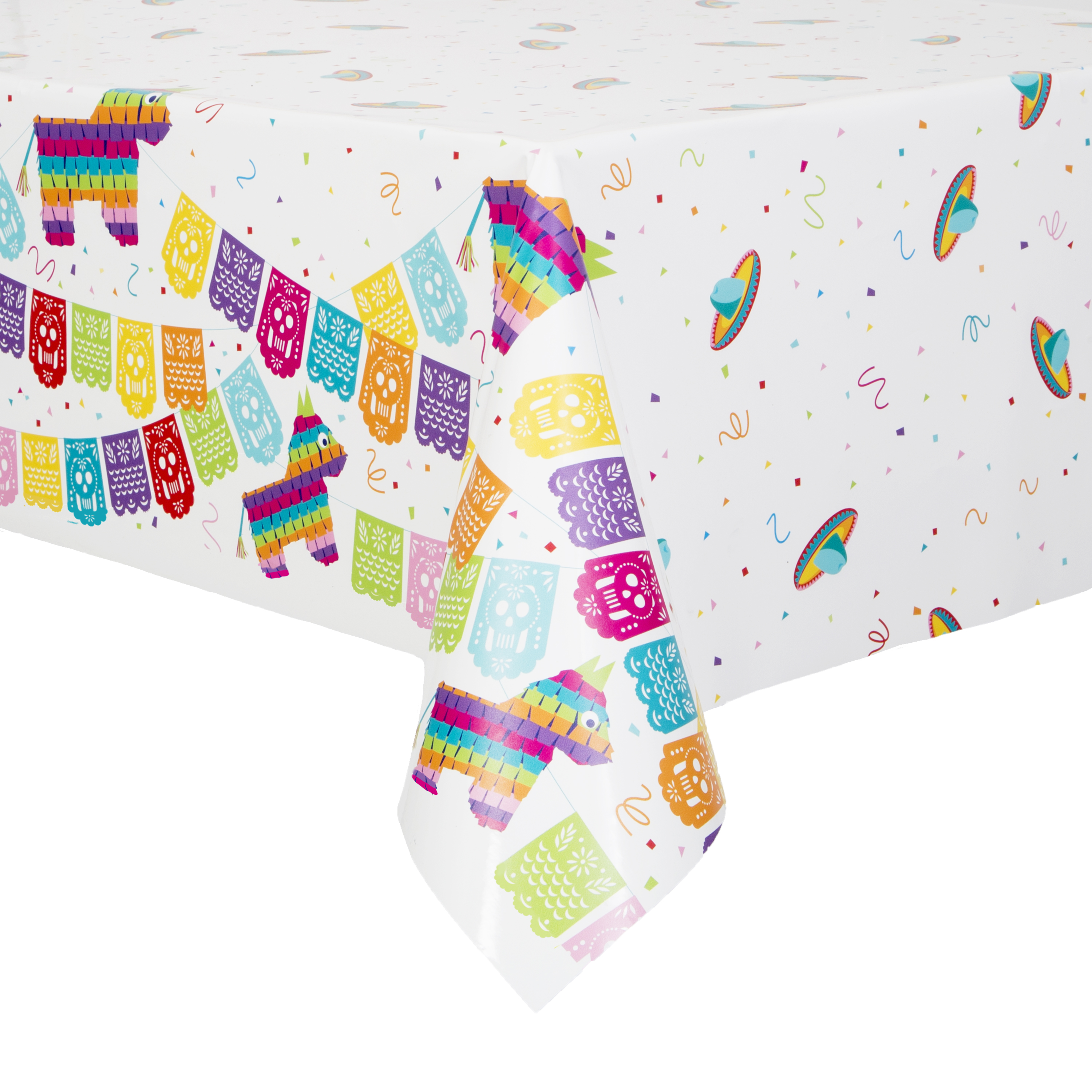Mexican Fiesta Plastic Party Tablecloth, 84 x 54in
