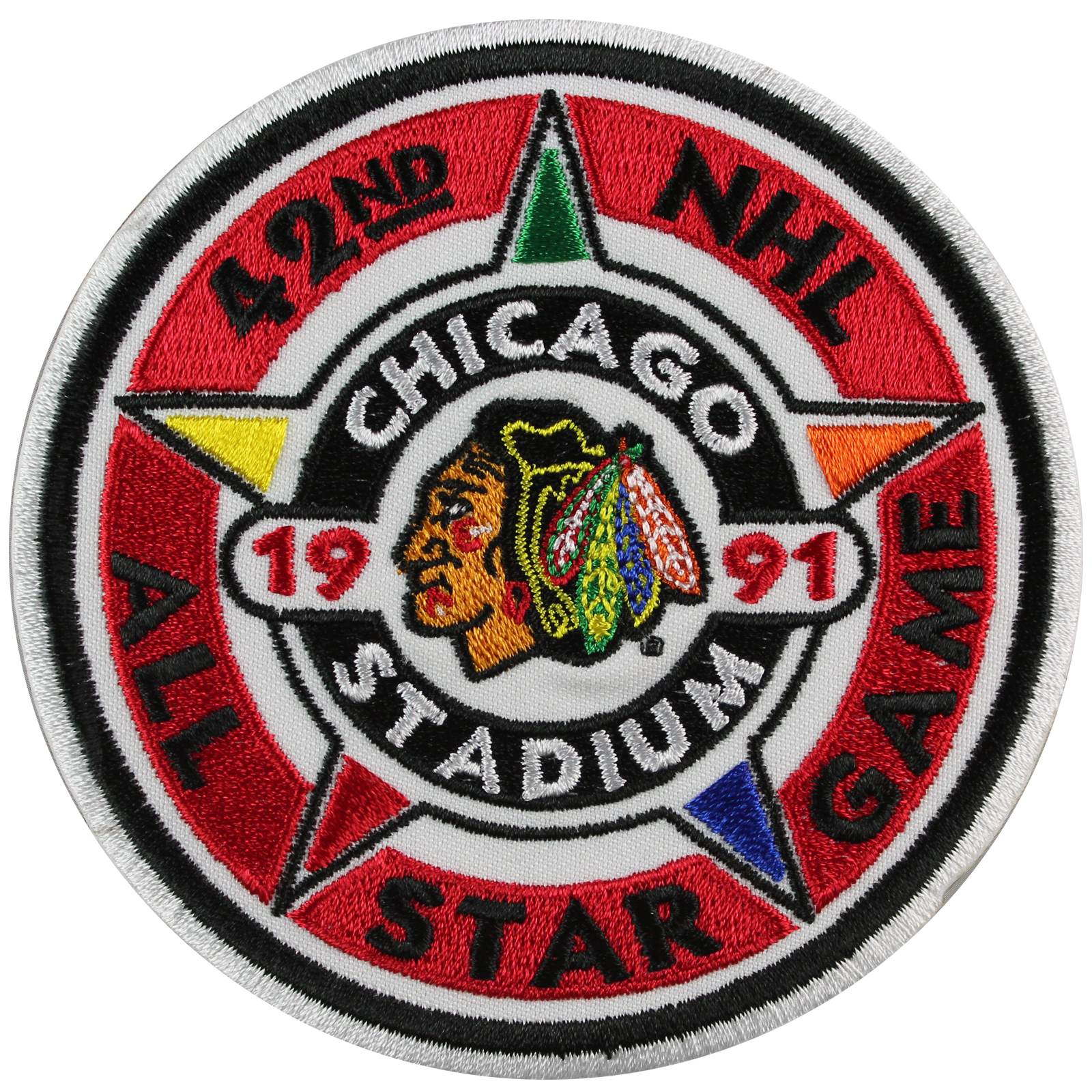 1991 NHL Hockey All Star Game Jersey Patch Chicago Blackhawks by
