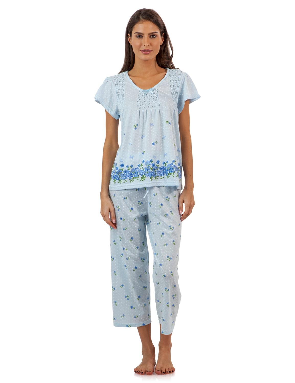 Casual Nights Women/'s Bonjur Pintucked Short Sleeve Pajama Set