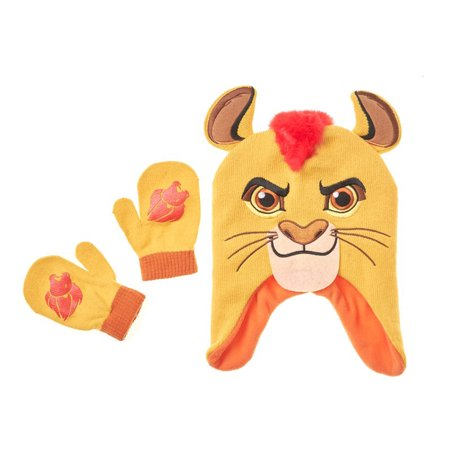 Disney Junior The Lion Guard Kion Toddler Boys Hat Mitten Set