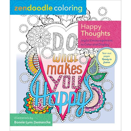 St Martin S Books Zendoodle Coloring Happy Thoughts Coloring Book