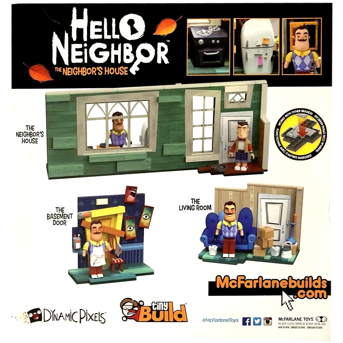 McFarlane Toys HELLO NEIGHBOR Large CONSTRUCTION SET Neighbors House 267 pcs Nee