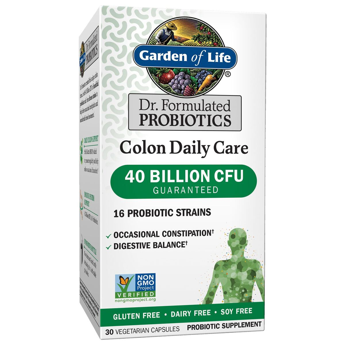 Garden of Life Dr. Formulated Colon Daily Probiotics, 40 Billion CFU, 30 Ct