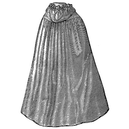 Sewing Pattern: 1870 Bathing Cloak with Hood Pattern - Walmart.com